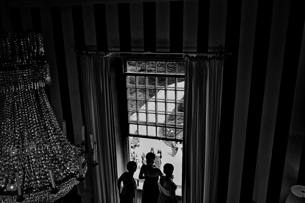 Blick von Fenster in Schloss Hertefeld